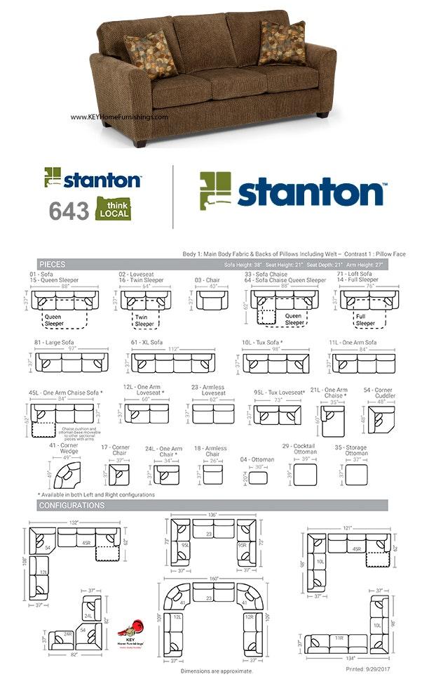 Pleasant Stanton Furniture Sofa 643 Measurements And Configurations Cjindustries Chair Design For Home Cjindustriesco