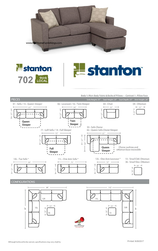 Outstanding Stanton Furniture Sofa Chaise 702 Measurements And Pdpeps Interior Chair Design Pdpepsorg